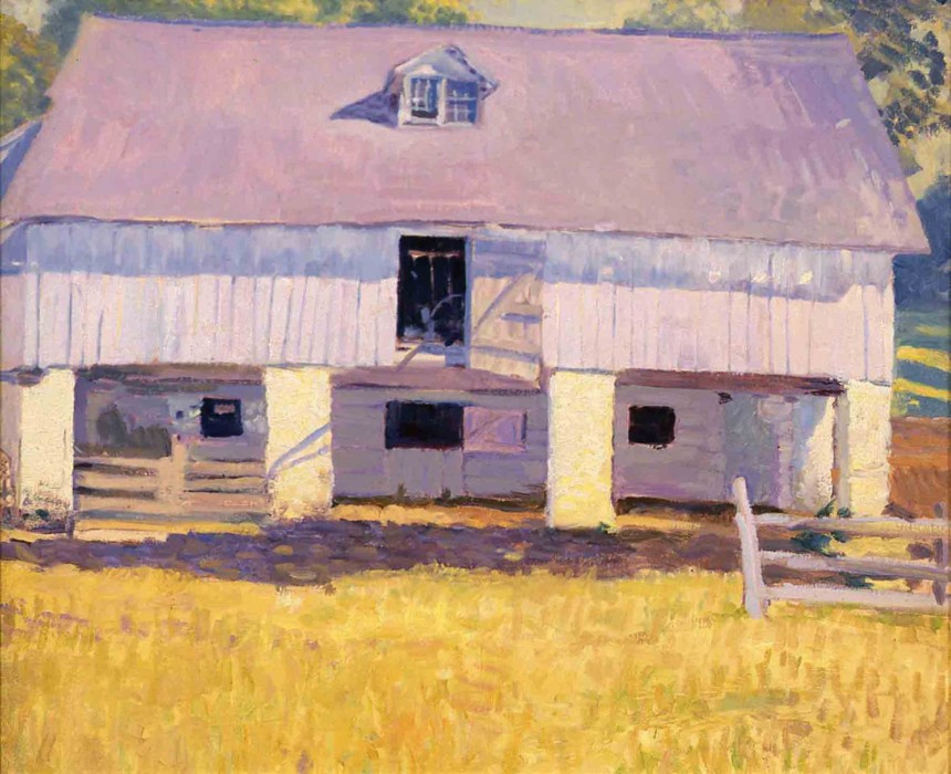 N.C. Wyeth, Pyles Barn, c. 1912, oil on canvas, 16 x 19 3/4 inches