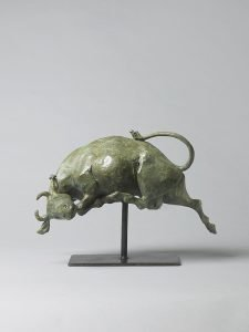 Olivia Musgrave, Io and the Gadfly Maquette, 2019, Bronze, 11 x 16 x 7 inches