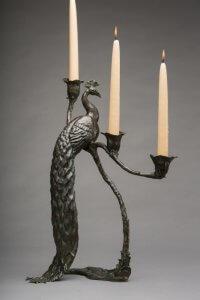 Rikki Morley Saunders, Sentinel, 2013, Bronze, 14 x 9 x 19 1/4 inches
