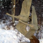 Margery Torrey, Swan Duet, Bronze (life size), edition of 15