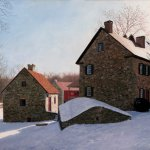 Timothy Barr, Jacob Keim House, Oley Valley, 2010, oil on panel, 18 x 24 inches