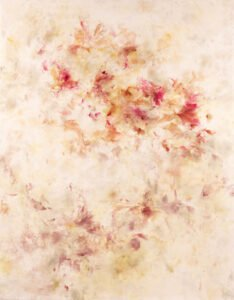 Betsy Eby, In Her Faint Evidence, 2021; Encaustic, oil and ink on panel; 70 x 55 inches