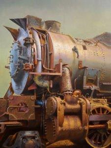 Drew Ernst, Kanawha, 2019, Oil on linen, 40 x 30 inches