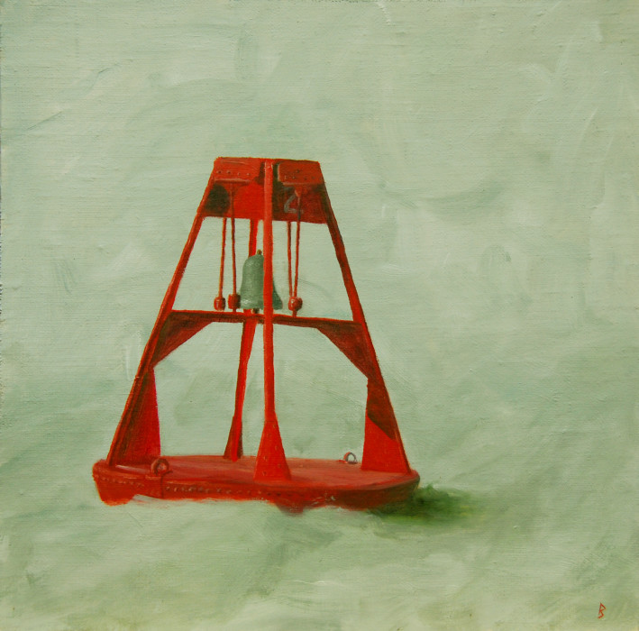 J. Clayton Bright, Reassurance, oil on canvas on panel, 10 x 10 inches