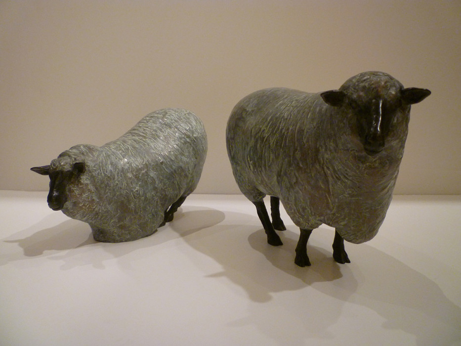J. Clayton Bright, Sheep, bronze, 8 x 3 x 5 1/2 inches, 7 1/2 x 3 1/4 x 4 1/2 inches