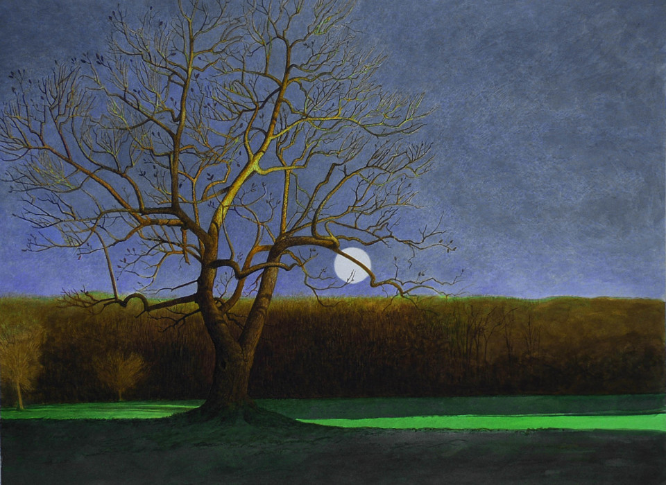 Greg Mort, After Moon, 2011, Oil on panel, 18 x 24 inches