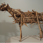 Deborah Butterfield, Untitled, 1980, Steel rod, wire, straw, wood, 26 x 31 x 12 inches