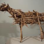 Deborah Butterfield, Untitled, 1980, Steel rod, wire, straw, wood, 26 x 31 x 12 inches
