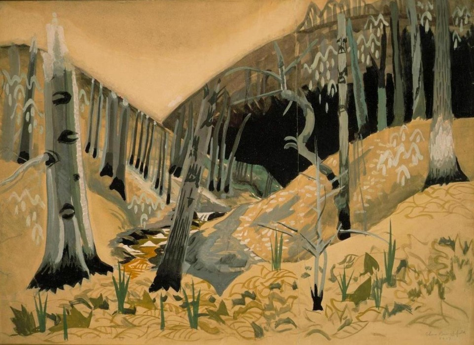 Charles Burchfield, Early Spring, 1917, Watercolor and Graphite on Paper, 21 x 28¼ inches