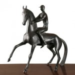 Hunt Diederich, Jockey and His Mount,1928, Bronze, 16 1/2 inches
