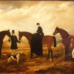 Claude Ferneley, Fox Hunt, 1861, Oil on canvas, 27 x 48 inches