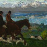 Gifford Beal, Home from the Hills, Oil on canvas, 14 3/4 x 35 1/2 inches
