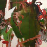 Hollis Heichemer, Hazards of Fortune, Oil on Canvas, 29 x 71 inches