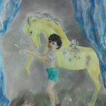 Henriette Wyeth, Yellow Pony, Oil on canvas, 72 x 60 inches