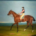 """John Frederick Herring The Hon. Edward Petre's """"Theodore"""" with J.Jackson up, 1824, Oil on canvas, 22 x 30 inches"""