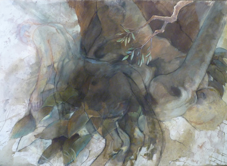 Jane Morris Pack, Centaur Ghost, Oil on Paper, 29½ x 41 inches