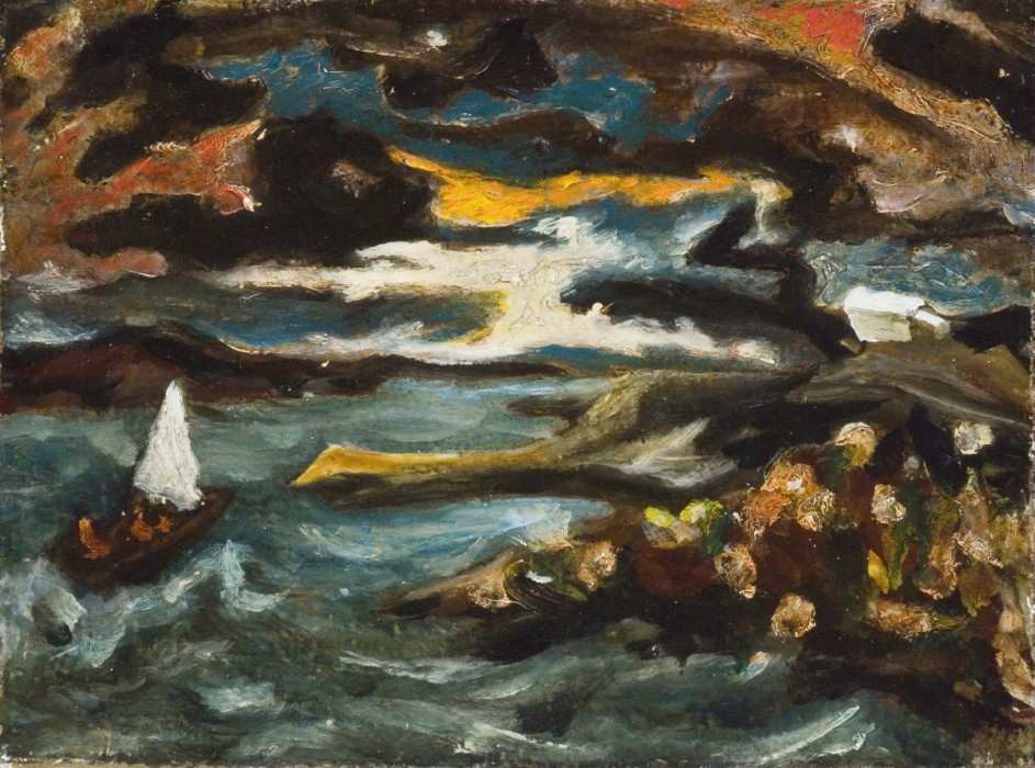 Jackson Pollock, Seascape, 1934, Oil on Canvas, 12 x 16 inches