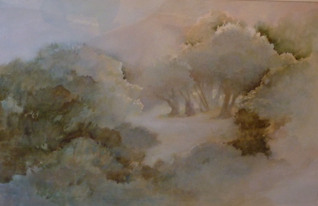 Jane Morris Pack, The Clearing, Oil on Paper, 27½ x 39 inches