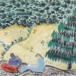Milton Avery, From Ball Mountain, 1943, Watercolor, 22 x 30 inches