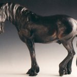 Margery Torrey, Friesian Horse, Bronze, 22 x 5 x 16 inches