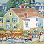 Maurice Prendergast, Bayside Marblehead,circa 1920- 1923, Watercolor, Pastel and Pencil on Paper, 11½ x 15¾ inches