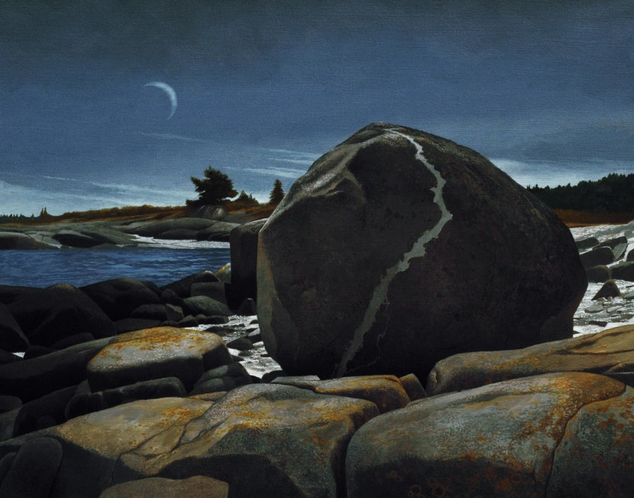 Greg Mort, Morning Crescent, 2010, Oil on Panel, 22 x 28 inches