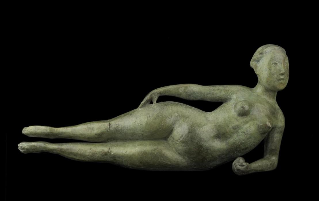 Olivia Musgrave, Pomona, Bronze, 22 x 7 x 5 inches