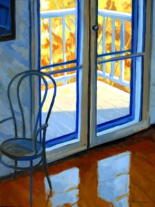 Philip Koch; Edward Hopper's Parlor, Nyack; 2020, Oil on canvas, 32 x 24 inches