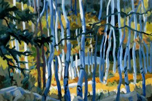 Philip Koch, Thicket, 2014, oil on board, 14 x 21 inches