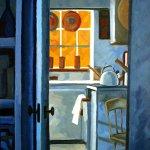 Philip Koch, Truro Kitchen (SOLD), 2017, Oil on canvas, 40 x 30 inches