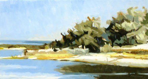 Philip Koch, White Sand (SOLD), 2020, Oil on canvas, 16 x 30 inches