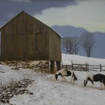 Peter Sculthorpe, Winter in the Hills, 2011, Oil on mounted linen, 20 x 25 1/2 inches