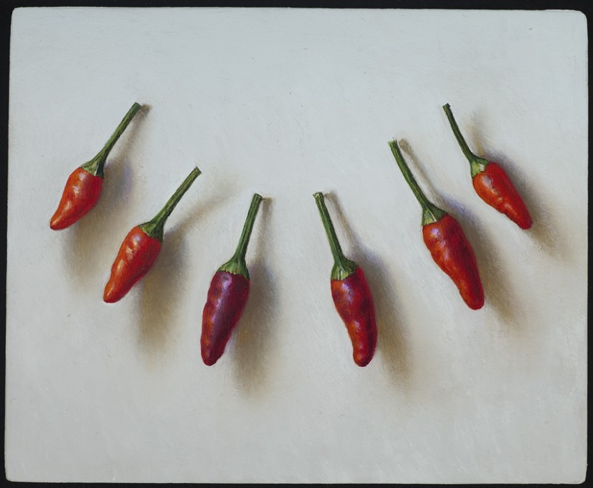 Scott Fraser, Thai Hot Chiles, Oil on Copper,4.5 x 5.5 inches