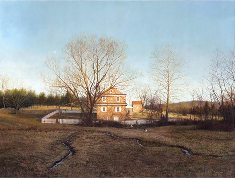 Timothy Barr, Daniel Boone Homestead, Oil on Panel, 30 x 40 inches
