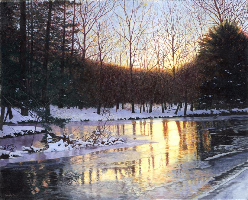 Timothy Barr, Golden Swatara, Oil on Panel, 24 x 30 inches