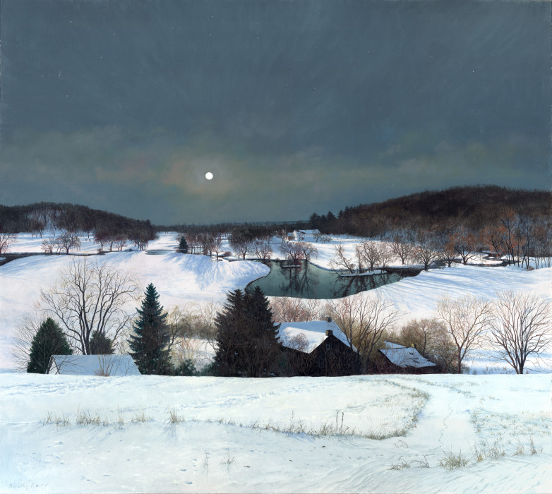 Timothy Barr, Luminescene, Oil on Panel, 38 x 42 inches