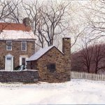Timothy Barr, Thompson Neely House, Oil on Panel, 12 x 16 inches