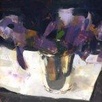 Jon Redmond, iris, oil on Mylar, 8 x 11 inches