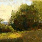 Jon Redmond, Light on Edge, oil on board, 8 1/4 x 11 inches