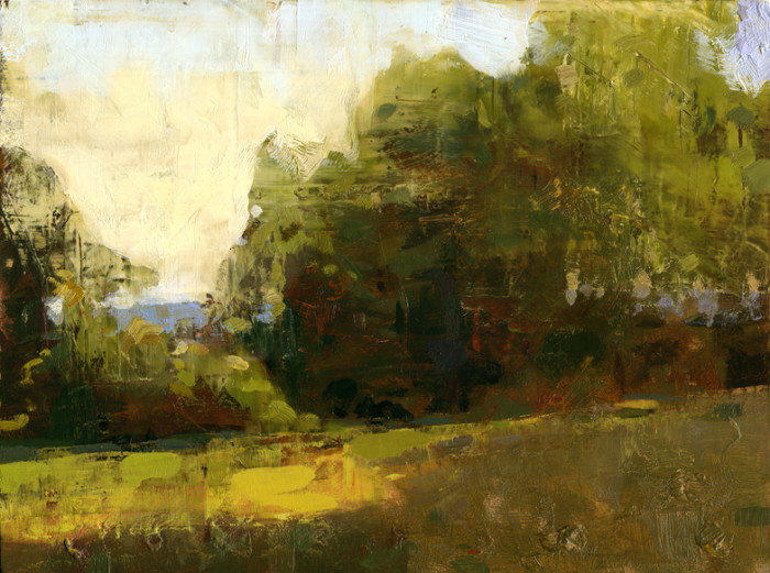 Jon Redmond, Light on Edge, oil on board, 8 1/4 x 11 inches