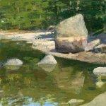 Jon Redmond, Rock, oil on board, 10 x 10 inches