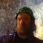 Jon Redmond, Self Portrait, oil on board, 13 3/4 x 9 3/4 inches