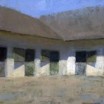 Jon Redmond, Stable, oil on board, 10 x 10 inches