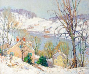 Fern Isabel Coppedge, From the Hill Top, oil on canvas, 30 x 24 inches