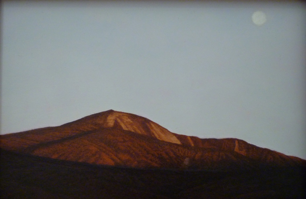 Robert Van Meter, Sunset on Giant MT, oil on board, 8 x 12 inches