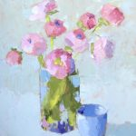 Carol Maguire, Bouquet with Cup, Oil on panel, 16 x 12 inches