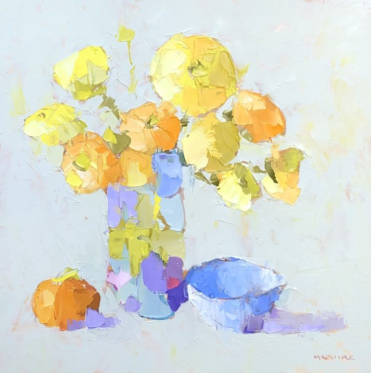 Carol Maguire, Sunshine, Oil on panel, 12 x 12 inches
