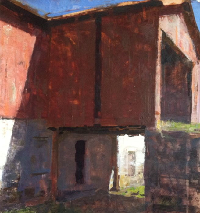 Jon Redmond, Bank Barn, 17 x 18 inches