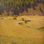 Jon Redmond, Marshal Creek, 2012, oil on panel, 10 x 10 inches