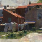 Jon Redmond, Pink Pants, oil on board, 26 x 20 inches